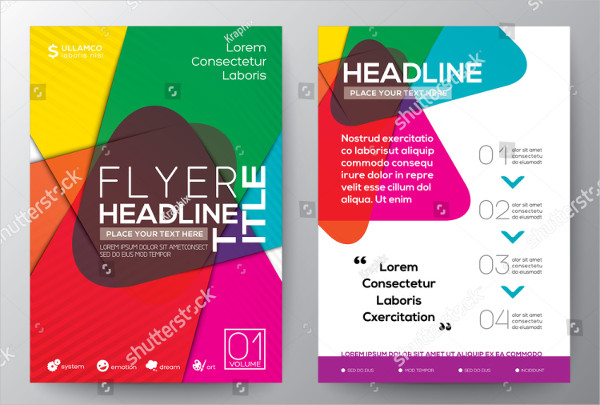 Abstract Colorful Flyer Design