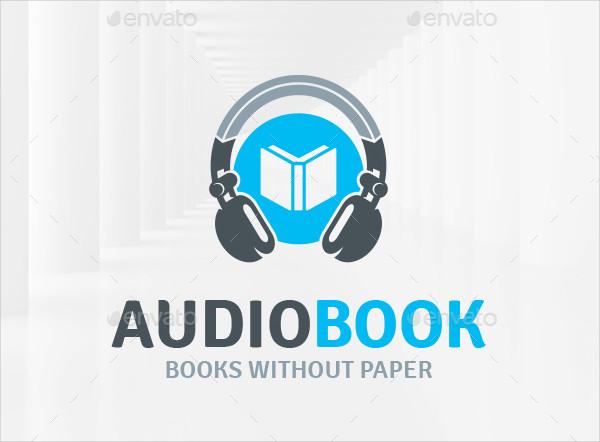 Audio Book Logo Design