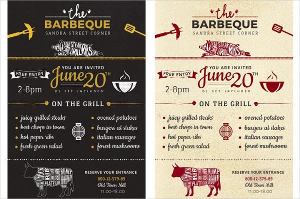 Barbecue Menu Flyer Template