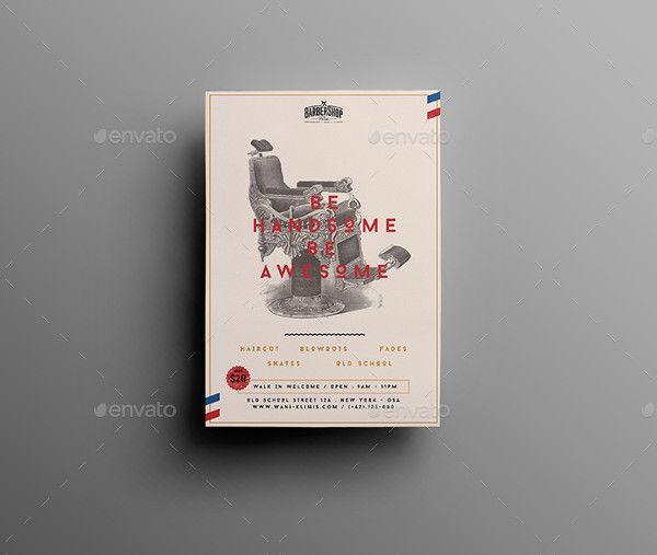 Barbershop Flyer PSD