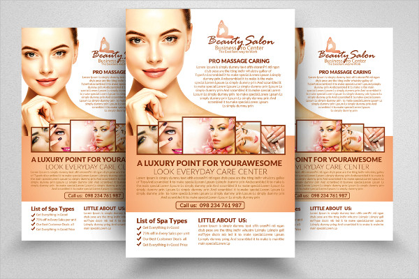 Beauty Salon PSD Flyers Template