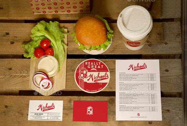Burger Restaurant Branding Mockups