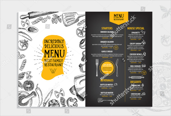 Chalkboard Restaurant Menu Flyer Template