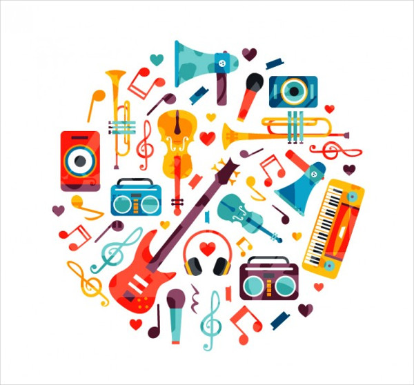 Circle Made of Music Instruments Free