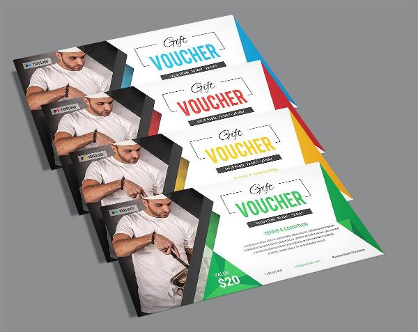 Clean Restaurant Gift Voucher Templates