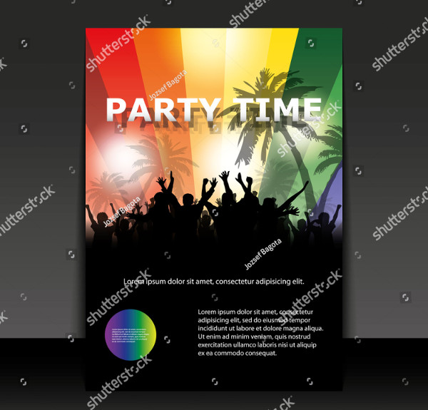 Colorful Party Time Flyer Design