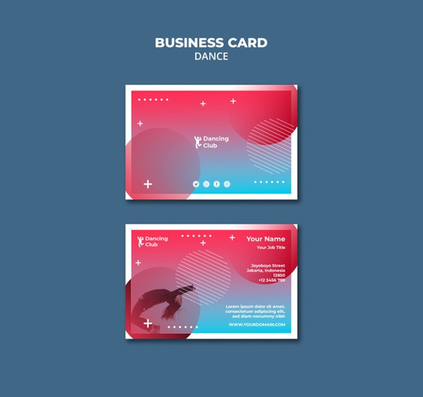 Elegant Dance Business Card Template Free Download