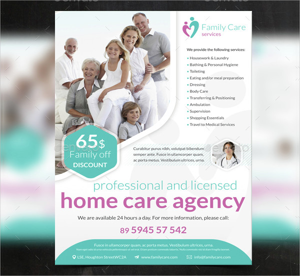 Family Care Agency Flyer Template