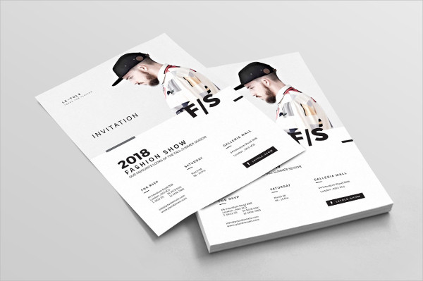 Fashion Show Invitation Poster or Flyer Template