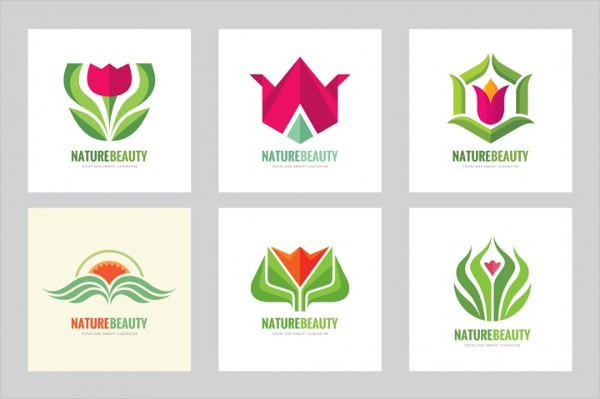 Flower Nature Beauty Logo Set