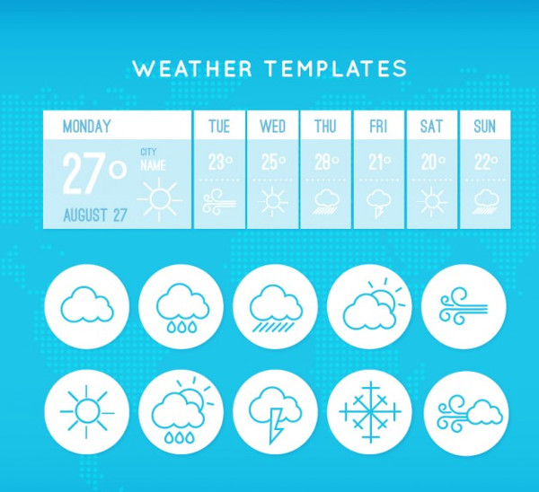 Free Weather App Template Download