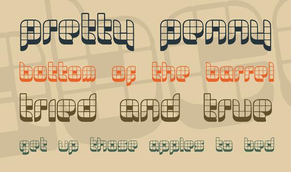 Funky Geometric Font Free