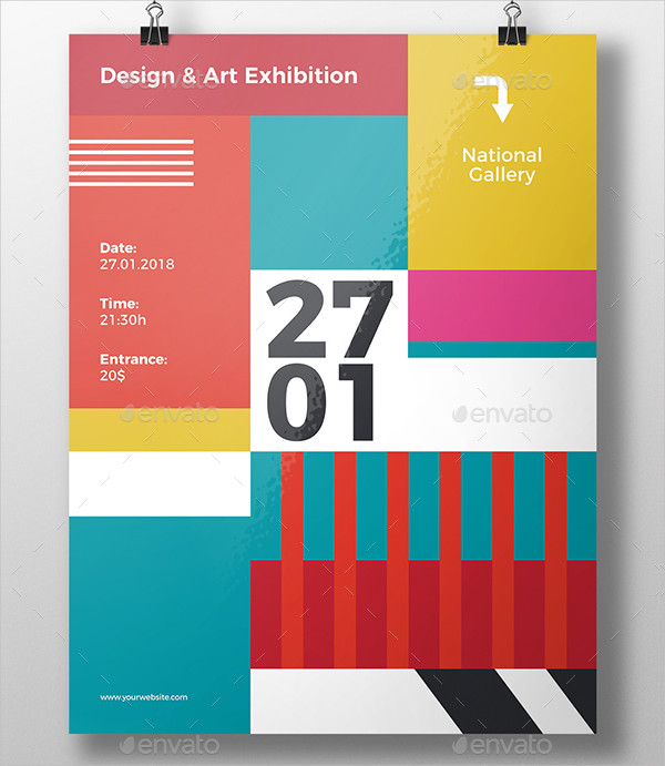 Geometric Colorful Flyer Template