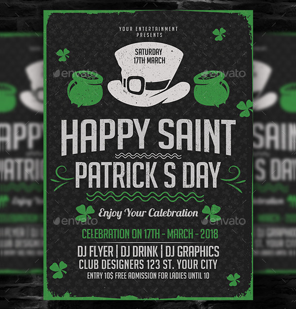 Happy Saint Patricks Day Flyer Template