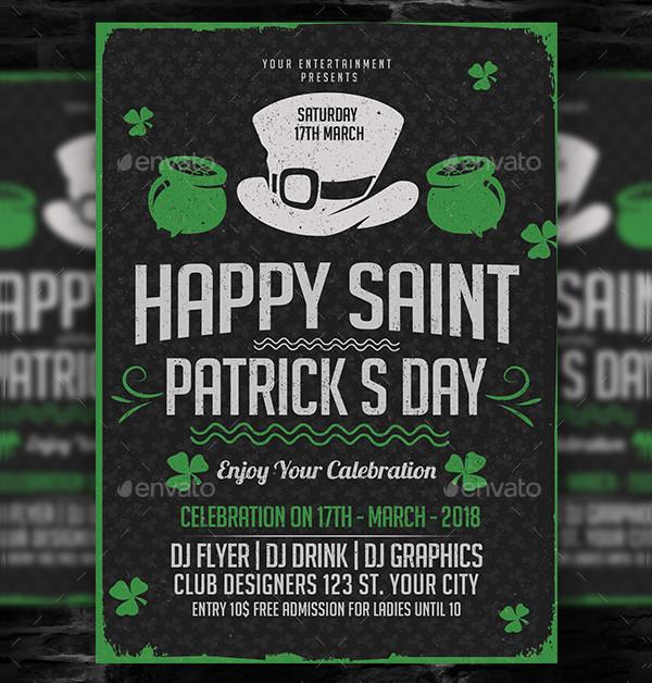 Happy Saint Patricks Day Flyer Template