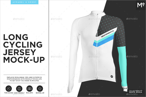 Long Cycling Jersey Mock-Ups