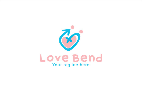 Love Bend Gender Creative Stock Logo Template