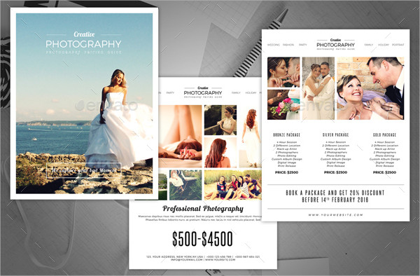 Minimal Photography Price Lists Template