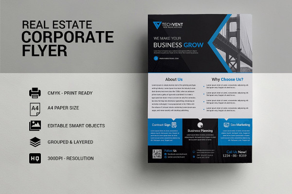 Real Estate Business Consulting Flyer Template