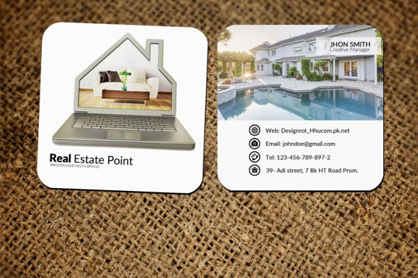 Real Estate Small Business Card Template