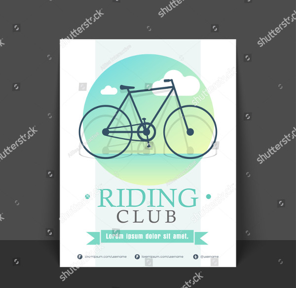 Riding Club Flyer Design Template