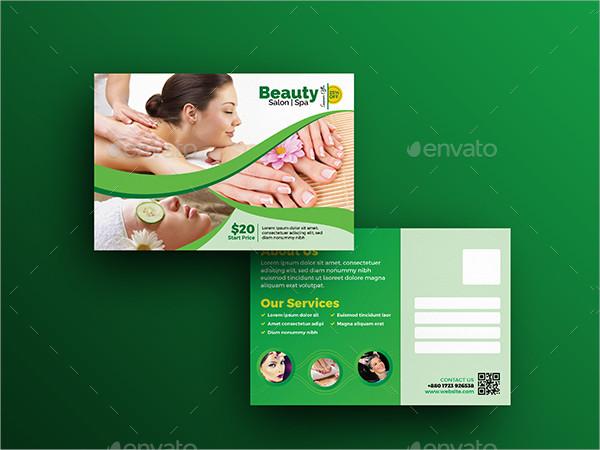 Spa Beauty Postcard Template