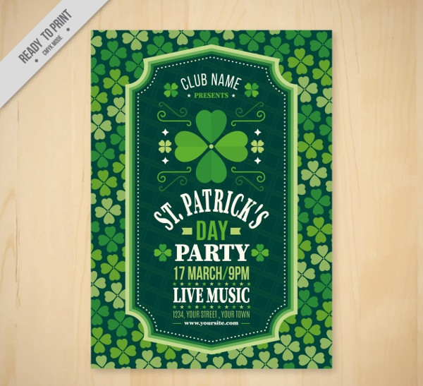 St Patrick's Party Flyer Free Download