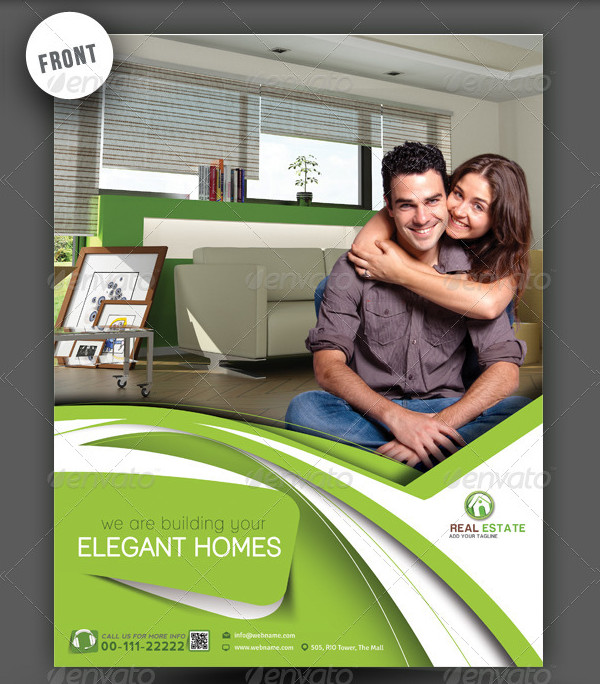 Stylish Real Estate Flyer & Poster Template
