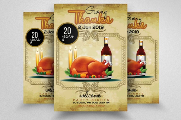 PSD Thanksgiving Meal Flyer Template