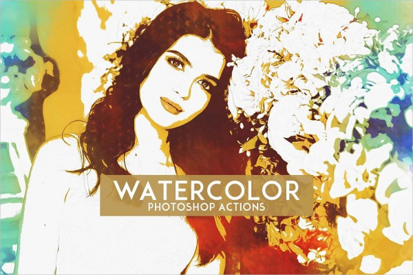 Watercolor Artistic Photoshop Action