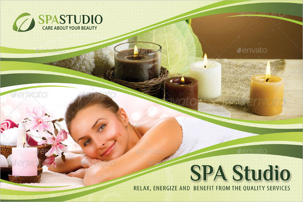 Wellness And Spa Postcard Template