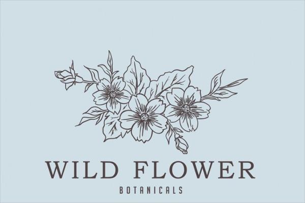 Wild Flower Logo Template
