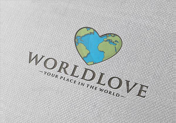 World Love Logo Template