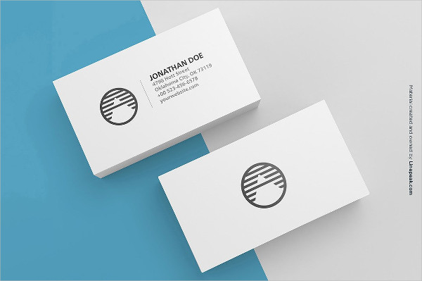 3 Blank Business Cards Mockup