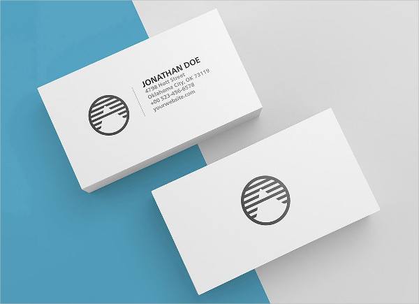 3 High Quality Blank Business Cards Mockup