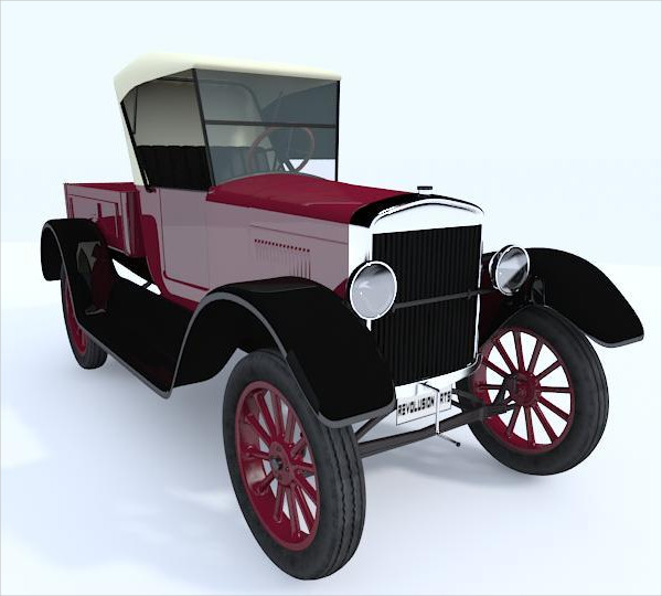 3D Car Model With Vray Material