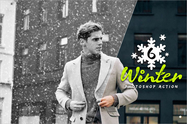 6 Winter Photoshop Actions Download