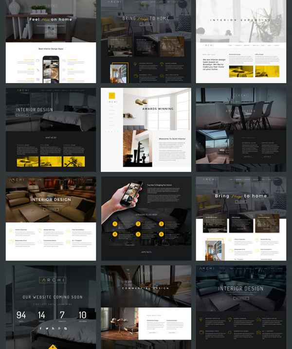 Archi Interior Design Website Template