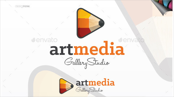 Excellent Art Media Logo Template