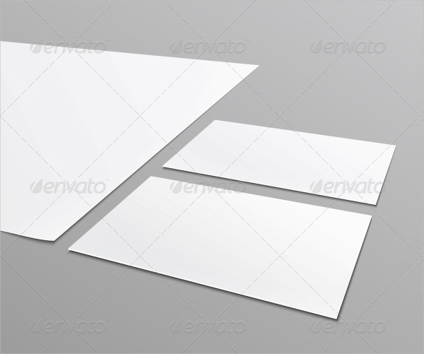 Blank Stationery Layout and Business Card Template
