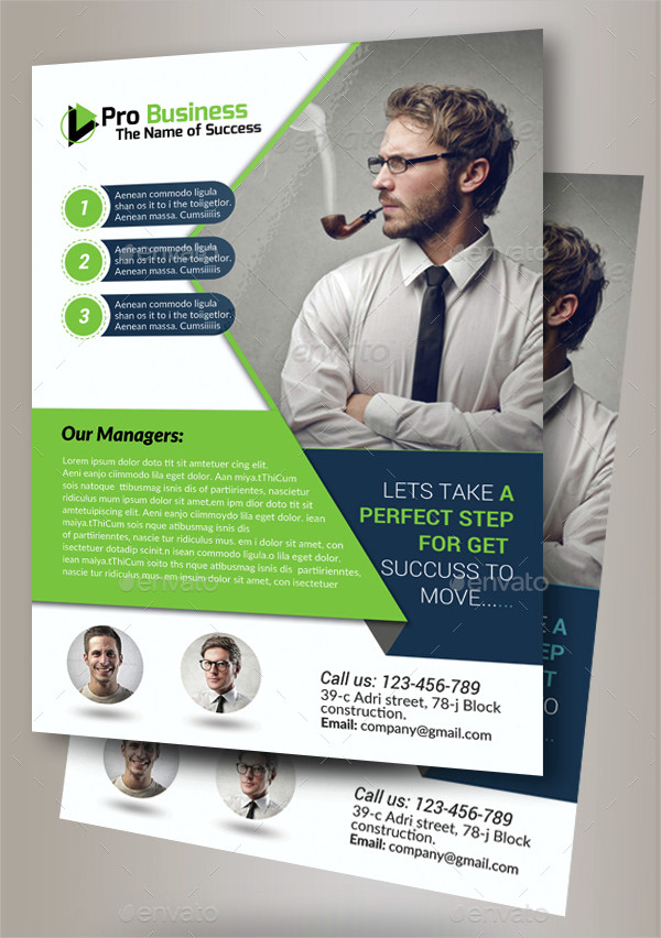 Unique Business Training Agency Flyer Template