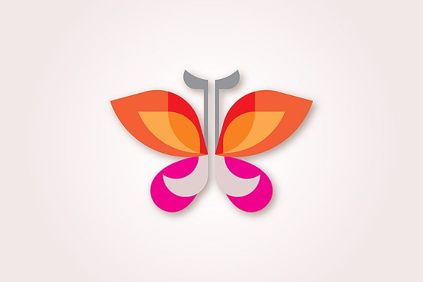 Watercolor Butterfly Icon