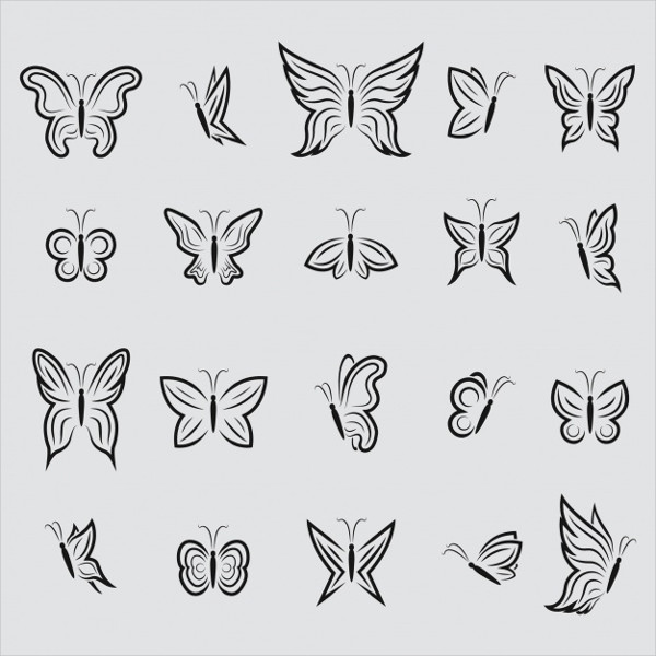 Free Download Butterfly Icons Collection