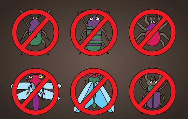 Cartoon Pest Icons Vector Free Download