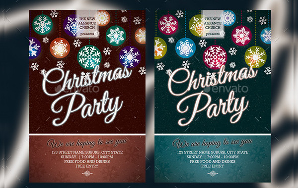 PSD Christmas Event Flyer Design