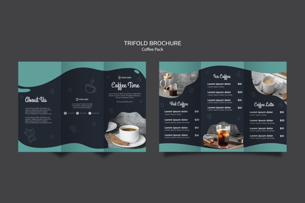 Coffee Package & Tri-Fold Brochure Redesign