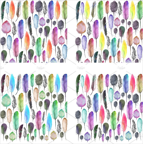 Colorful Feathers Patterns