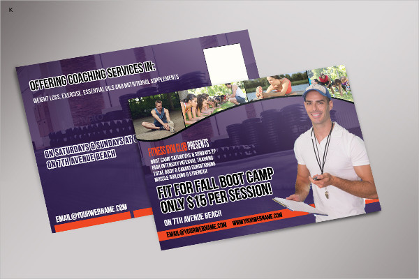 Colorful Fitness Post Card Template