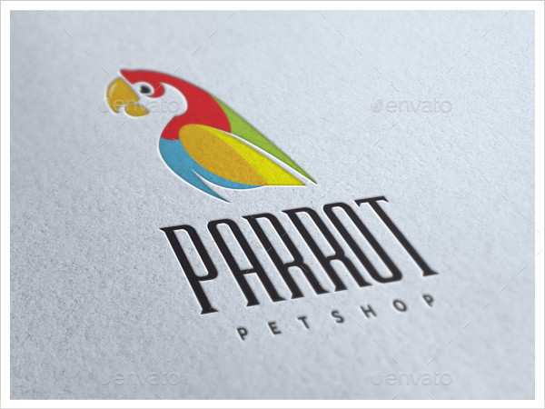 Colorful Pet Shop Logo Template