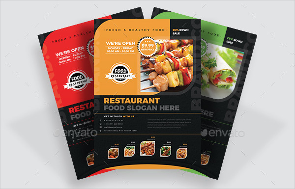 Elegant Restaurant Business Flyer Template